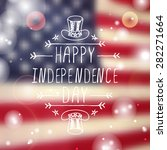 happy independence day card... | Shutterstock .eps vector #282271664