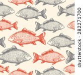 Carp Fish Asian Style Seamless...