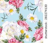 blooming garden. roses  rose... | Shutterstock .eps vector #282274130