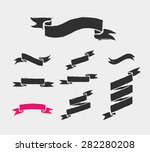 hand drawn ribbons  icons and... | Shutterstock .eps vector #282280208