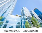 low angle view of modern office ...   Shutterstock . vector #282283688