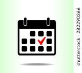 calendar sign icons  vector... | Shutterstock .eps vector #282290366