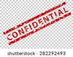 rubber stamp   confidential  | Shutterstock .eps vector #282292493