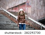 beautiful young girl   student... | Shutterstock . vector #282292730