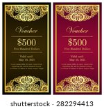 vintage vertical voucher with... | Shutterstock .eps vector #282294413