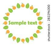 vector fruit frames. cute... | Shutterstock .eps vector #282296300