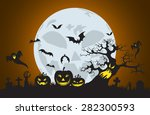 vector halloween background... | Shutterstock .eps vector #282300593