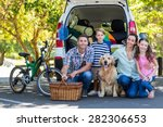happy family getting ready for... | Shutterstock . vector #282306653