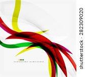 rainbow color wave stripes ... | Shutterstock .eps vector #282309020
