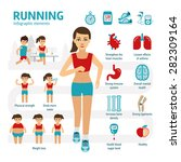 running and health infographic... | Shutterstock .eps vector #282309164