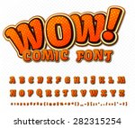 creative high detail comic font.... | Shutterstock .eps vector #282315254