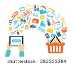 shopping background concept... | Shutterstock .eps vector #282323384