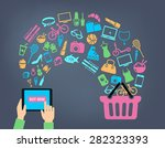 shopping background concept... | Shutterstock .eps vector #282323393