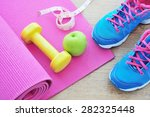 set for sports activities on... | Shutterstock . vector #282325448
