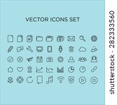 thin line icons set vector | Shutterstock .eps vector #282333560