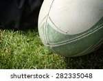 the ball for rugby | Shutterstock . vector #282335048