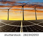 solar energy panels and wind... | Shutterstock . vector #282342053