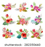 watercolor hand drawn ... | Shutterstock . vector #282350660