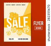 abstract creative sale flyers ... | Shutterstock . vector #282355670