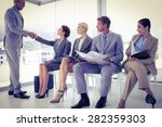 business people waiting to be... | Shutterstock . vector #282359303