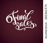 final sales promotion... | Shutterstock .eps vector #282361574