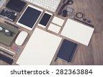 vintage style responsive mockup | Shutterstock . vector #282363884