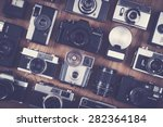 vintage and retro camera set | Shutterstock . vector #282364184