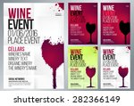 design for wine event. suitable ... | Shutterstock .eps vector #282366149