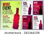 design for wine event. suitable ... | Shutterstock .eps vector #282366158