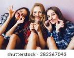 close up indoor lifestyle... | Shutterstock . vector #282367043