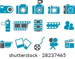 Vector icons pack - Blue Series, photo collection - stock vector