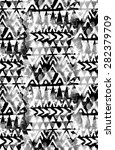 seamless tribal pattern with... | Shutterstock . vector #282379709