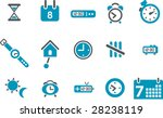 Vector icons pack - Blue Series, time collection - stock vector