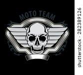 skull moto graphic for t sirt ... | Shutterstock .eps vector #282389126