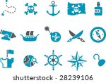 vector icons pack   blue series ... | Shutterstock .eps vector #28239106