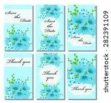 vintage vector card templates....   Shutterstock .eps vector #282391109