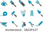 Vector icons pack - Blue Series, tool collection - stock vector