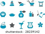 Vector icons pack - Blue Series, zen collection - stock vector