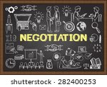 business doodles about... | Shutterstock .eps vector #282400253
