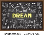 business doodles about people... | Shutterstock .eps vector #282401738