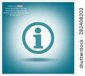 information sign icon  vector...   Shutterstock .eps vector #282408203