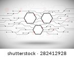 three hexagonal cell with a...   Shutterstock .eps vector #282412928