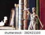 statue of justice | Shutterstock . vector #282421103