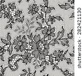 black lace floral seamless... | Shutterstock .eps vector #282421130