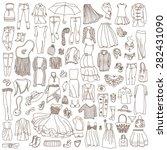 vector set of different women... | Shutterstock .eps vector #282431090