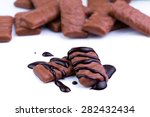 delicious chocolate candies on... | Shutterstock . vector #282432434