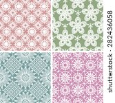 lace seamless floral pattern.... | Shutterstock .eps vector #282436058