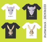 set of t shirt designs with rat ... | Shutterstock .eps vector #282436103
