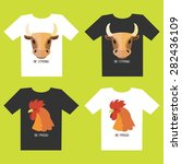 set of t shirt designs with... | Shutterstock .eps vector #282436109