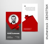 modern business card layout...